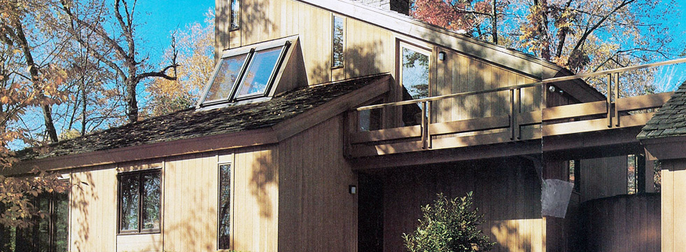 Large home of and designed by Connecticut architect John Milnes Baker, AIA